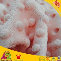 2015 new design high quality super soft Oeko-tex 100 and SGS crush velboa minky fabric
