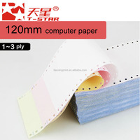 "T-Star Continuous Computer Form Paper, 9 1/2""*11"", 3 parts, White/pink/yellow, carbonless,perforated"