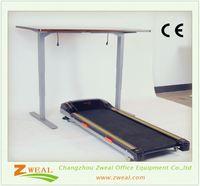 front office design changzhou ergonomic sit stand desk frame commercial adjustable laptop table