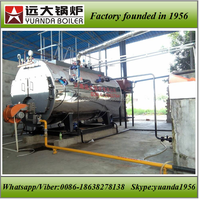 Wet back type industrial gas/oil fired non ibr steam boiler