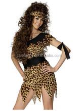 Jane Hunter Tarzan Cave Woman Leopard fancy dress cosplay party costume QAWC-3010