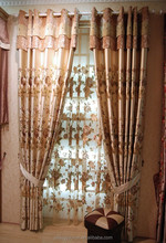 Classic flower series chenille curtain drapery