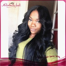 2015 Big wave 100% brazilian human hair chinese virgin human hair full lace wig
