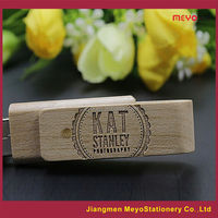 2015 Rotated Wooden USB Flash Drive