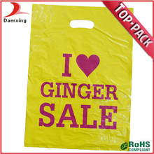 Hot selling color pack wholesale free design plastic bags for shopping