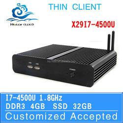 Server Linux PC Itx Case 4k pc X29-I7 4500U Support Home Premium 4G RAM 32G SSD