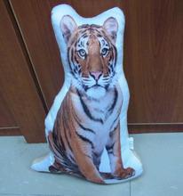 customized irregular shape pillow Kids travel Wholesale Tiger Pillow