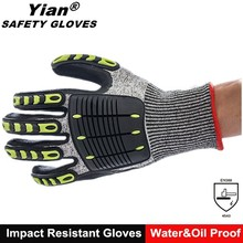 Safety oil resistant nitrile coated auto mechanic work gloves