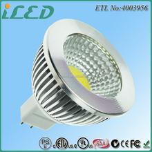 ETL Approved Aluminum Alloy 90 Degrees DC/AC 12V GU5.3 Mr16 5W COB LED Spotlight ra>90