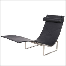 Poul Kjaerholm style PK24 chaise lounge 2015 new style chair italian leather cushions