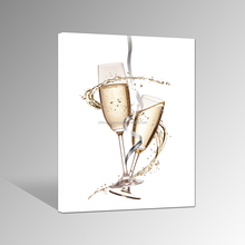 Champagne Canvas Print Art/Glass Home Decoration Artwork/Modern Canvas Printing