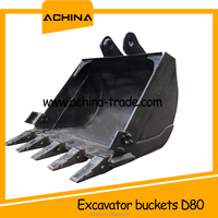 competitive price standard excavator crusher bucket sizes DH80