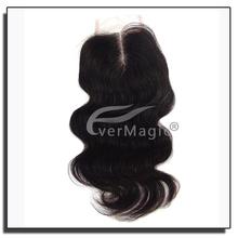 Cheap Brazilian Silk Base Closure 100% Human Hair 4x4 Body Wave Silk Base Closures Free Middle 3 Way Part Silk Top Closure Stock