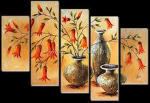 Handpaint Vase Oil Painting,Landscape Painting 41466