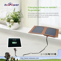 Universal portable Sunpower solar panel Ivopower 10W solar power bank charger popular cell phone chargers