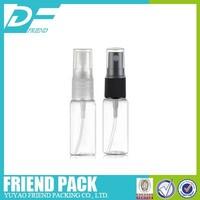 manufacture spray plastic PET bottle 15ml,plastic PET mini bottle with pump spray for toner,small perfume spray bottle