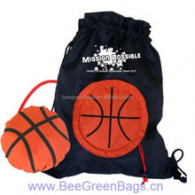 2014 Hot basketball 190T Polyester design your own drawstring backpack bag