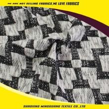Custom design cotton polyester jacquard waffle knit fabric