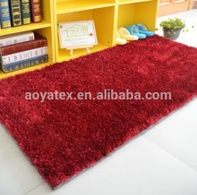 red color design 2cm high pile shaggy rug/carpet/floor mat manufacturer