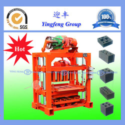 Hydraulic power QTJ4-40 machines to make block cement,cement block making machine with factory Price