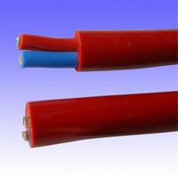 Low voltage silicone rubber power cable