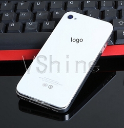 mobile phone orange cover for iPhone 4 4s mirrored rear panel