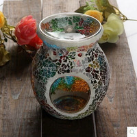 Glass Mosaic candlestick extract oil lamp oil furnace