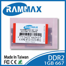 Rammax wholesale price ddr2 667MHz 1gb laptop note book