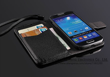 Soft Luxury Wallet Leather Case for Sumsang Galaxy S4/S5 with Stand Flip Book Design with Card Holder