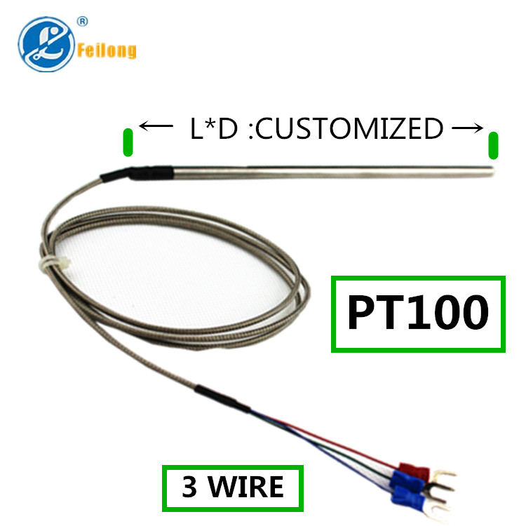 3 Wire Thermocouple : Wire pt thermocouple rtd sensor with stainless steel
