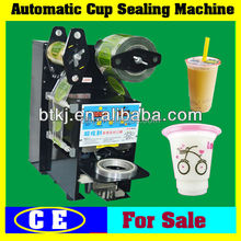 Tabletop Manual Plastic Cup Sealer for Fast Food or Drinking Store Use,Portable Small Size Semi-Auto Plastic Cup Sealing Machine