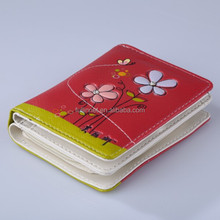 New Model Ladies Purses/Fashion Wholesale Red Flowers Printing Woman Wallet/Festival gift