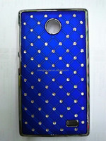 Bling Starry Sky Stars Electroplated Back PC Hard phone case for nokia x
