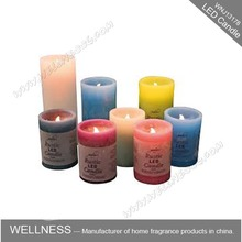 wax LED scented muti-colors candle light for birthday