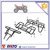 ATV150 ITALIKA motorcycle parts, ATV front luggage carrier, rear carrier and atv bumper