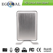 Thin client Multi user X5,built-in Linux OS,1G RAM, 8GB flash,CPU 1.5Ghz, Quad core,support online video,local printer