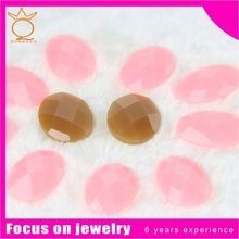 Team race and club Color brilliancy button resin rhinestone flatback