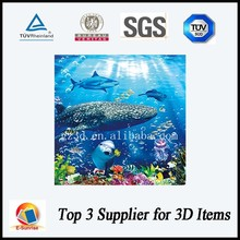 3d lenticular picture of water life image for promotional gifts
