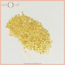 Top quality heat resistant light citrine nano piedra preciosa cabochon loose gemstone