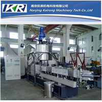 300-500kg/h filler color masterbatch twin screw compounding extruder making machine for plastic granulation