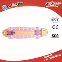 2015 hot sale Led light Custom Finger Cruiser Penny Skate Board