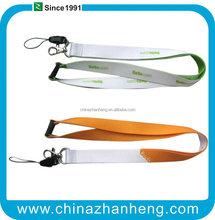 high quality silk printing bamboo lanyard/fashion neck strap/mobile phone strap