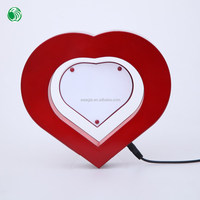 Two sides heart shaped magnetic levitation photo frame gifts to india