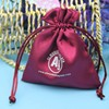 China Factory Gift Drawstring Silk Small Satin Bag