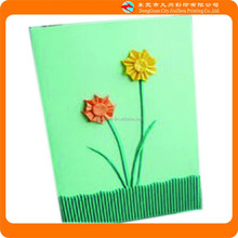 2015 Factory wholesale simple kids greeting cards with flower picture in China