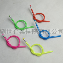 2015 OEM accept Promotional soft flexible pencil for students and offices