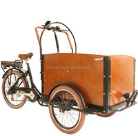 CE Danish bakfiets adult three wheel electric vending bicycle