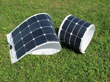 High efficency SUNPOWER 100 watts fabric folding solar panel, cloth foldable solar panels