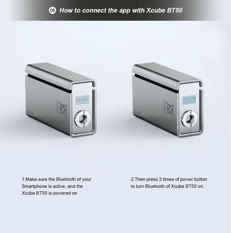 Smok 50w bluetooth xcube bt50 box mod