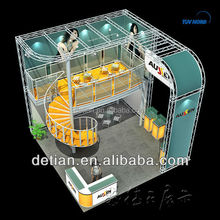 double deck exhibition booth,expo stands on lease in Shanghai